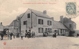 """¤¤   -   SAINT-GERMAIN-de-COULAMER   -  Rue Et Place  -  Café """" CARRE-PEARD """"   -   ¤¤ - France"""