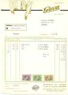Factuur Facture - Schoenen - Chaussures Schoenfabriek Gova Shoe - Quaregnon 1965 - Textile & Vestimentaire