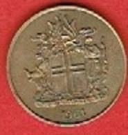 ICELAND #  1 Króna FROM 1961 - Islande