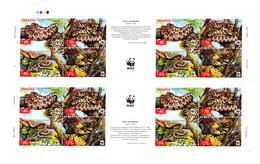 Ukraine 454 / 57 ( Feuille Complète De 4 Séries ) Protection De La Faune / Serpents / WWF - W.W.F.