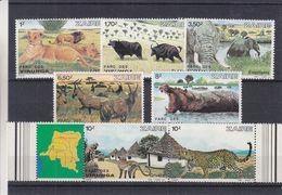 Zaïre - COB 1157 / 63 ** - Félins - Lions - éléphants - Hippopotames - Buffles - Antilopes - Valeur 30 Euros - Zaïre