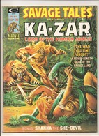 Savage Tales Featuring Ka-Zar # 8 - Shanna, Zabu, Jann Of The Jungle - Marvel Comics Group - In English - January 1975 - Marvel