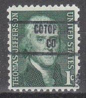 USA Precancel Vorausentwertung Preo, Locals Colorado, Cotopaxi 853 - Vereinigte Staaten