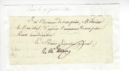 Bon-Adrien Jeannot De Moncey (1754 - 1842) GENERAL MARECHAL DE L'EMPIRE AUTOGRAPHE ORIGINAL AUTOGRAPH 1815 /FREE SHIP. R - Autographes