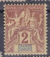 GRANDE COMORE 1897:  Le 2c. Neuf * - Komoren (1950-1975)