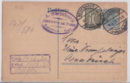 NEUENHAUS POSTKARTE 1921 - Allemagne