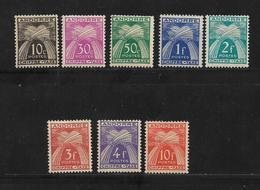 Timbres Taxe D'Andorre Francais De 1943/46  N°21 A 30 (sauf N°25 Et 29)  Neufs * - Portomarken
