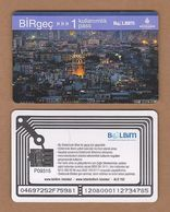 AC - SUBWAY SINGLE RIDE METROCARD, BUS CARD GATATA TOWER, ISTANBUL TURKEY - Titres De Transport