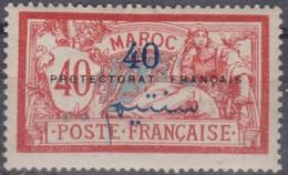 MAROC 1911:  Le 40 C. .  Neuf * - Marokko (1891-1956)