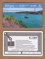 AC - SUBWAY SINGLE RIDE METROCARD, BUS CARD BOSPHORUS BRIDGE, ISTANBUL TURKEY - Titres De Transport