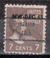 USA Precancel Vorausentwertung Preo, Bureau Colorado, Denver 812-71 Dated - Vereinigte Staaten