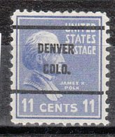 USA Precancel Vorausentwertung Preo, Bureau Colorado, Denver 816-61 - Vereinigte Staaten