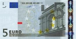 EURO AUSTRIA 5 N F003 UNC DUISENBERG VARIANT A - EURO