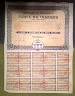 AC -B3532 - Action 100 Francs Mines De Thakhek ( Laos -Indochine) - Azioni & Titoli