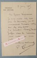 L.A.S 1905 Paul CONSTANS Député ALLIER Montluçon Laguionnie Né à Néfiach - Lettre Autographe Chambre Députés Montluçon - Autographes