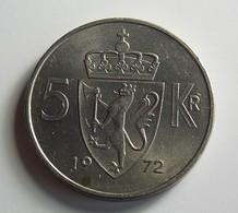 Norway 5 Kroner 1972 Varnished - Norvège