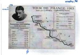 Tour De France 1913, Photocopie Longwy à Dunkerque Par Sedan Charleville Hirson Maubeuge Valenciennes Lille Hazebrouck - Cyclisme