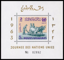 Afghanistan, 1964, United Nations Day, MNH, Michel Block 54A - Afghanistan
