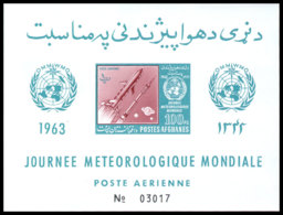 Afghanistan, 1962, World Meteorological Day, WMO, OMM, United Nations, Space, Rocket, MNH Imperforated, Michel Block 41B - Afghanistan