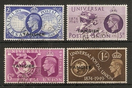 MOROCCO AGENCIES (TANGIER) 1949 UPU SET SG 276/279 FINE USED Cat £15 - Morocco Agencies / Tangier (...-1958)
