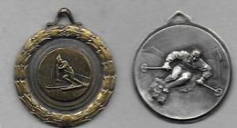 2 Médailles - Ski - Sports D'hiver