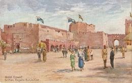 """Charles E. Flower. Gold Coast Pavilion"" Tuck LOilette British Empire Exhibition Ser. PC # 3513 - Tuck, Raphael"