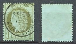 TIMBRE - FRANCE - Ceres  - Repub Franc - 1 C - Bleu Verdâtre - 1849-1850 Ceres