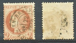 TIMBRE - FRANCE - Ceres  - Repub Franc - 2 C - Brun Rougeâtre - 1849-1850 Ceres