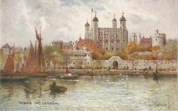 """A. De Breanski. Towerof London""  Tuck Oilette Postcard # 3584 - Tuck, Raphael"