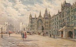 """A. De Breanski. Houses Of Parliament And Statue..""  Tuck Oilette Postcard # 3584 - Tuck, Raphael"