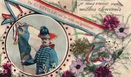 """CP- """" De LUNEVILLE""""--où Je Suis En Garnison--- - Patriotiques"""