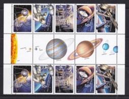 Australia 2007 Space 50 Years Blast Off! Gutter Block Of 10 MNH - 2000-09 Elizabeth II