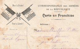 CP-  Correspondance Des Armées De La République- 2 Drapeaux---- - Marcophilie (Lettres)