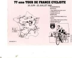 """B 14  /   1 BUVARD  """" TOUR DE FRANCE 1990   """" - Blotters"""