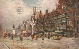 """A. De Breanski. The Old Houses. Holborn And Entrance To....""  Tuck Oilette Postcard # 3584 - Tuck, Raphael"