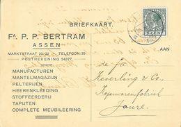 Carte De Correspondance - Briefkaart - Fa. P.P. Bertram, Assen, Postrekening - Manufacturen, Mantelmagazijn... - Autres