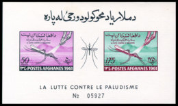 Afghanistan, 1961, Fight Against Malaria, Paludisme, WHO, United Nations, MNH Imperforated, Michel Block 15B - Afghanistan