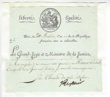 Claude Ambroise Régnier (1736 - 1814) MINISTRE JUSTICE EMPIRE AUTOGRAPHE ORIGINAL AUTOGRAPH 1803 /FREE SHIP. R - Autografi