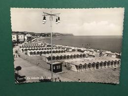 Cartolina Fano - La Ridente Spiaggia  - 1956 - Pesaro