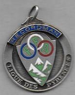 Médaille émaillée  - F F A   Ligue Des Pyrénées - Recordman - Athlétisme