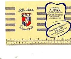 """B 14  /   1 BUVARD  """" AUDAX   """" - Blotters"""