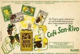 "B 14  /   1 BUVARD  "" CAFE SAN RIVO "" - Blotters"