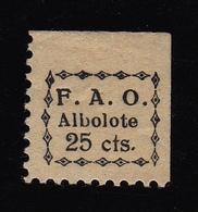 Republican Local Stamp ALBOLOTE - Viñetas De La Guerra Civil