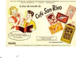 "B 15  /   1 BUVARD  "" CAFE SAN RIVO  "" - Blotters"
