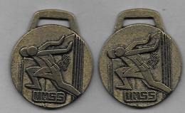 2 Médailles   -  UNSS 1981 Et 1982 - Sports