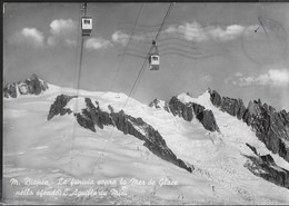 MONTE BIANCO - FUNIVIA MER DE GLACE - VIAGGIATA DA COURMAYEUR 06.04.1959 - ANNULLO CONALBI - Alpinisme