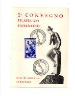 278 - REPUBBLICA , 2 Convegno Filatelico Fiorentino 25/4/1955 - 6. 1946-.. Repubblica