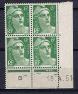 FRANCE ( COIN DATE ) : Y&T N° 884  DU  16/04/51  TIMBRES  NEUFS  SANS  TRACE  DE  CHARNIERE . - Coins Datés