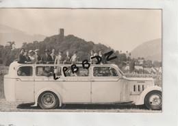 CPA PHOTO - BUS AUTOCAR  - RENAULT - Type à Identifier - Société S.L.A. Lourdes - Buses & Coaches