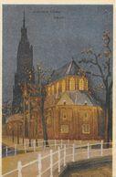 Publicité Firma V.D. Meer, Leeuwarden - Manufacturen, Tapijten, Modeartikelen - Illustration Nieuwe Kerk Delft - Advertising